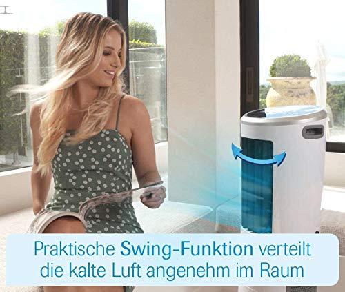 Livington InstaChill – Klimagerät mit Verdunstungskühlung – mobiles Klimagerät mit 3 Stufen – Klimagerät ohne Abluftschlauch 12h Kühlung mit 8,5 L Tank - 8