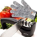 MACDIKOS Aiguiseur Couteau, Affuteur Professionnel - 3 Modes différents pour Les Couteaux Menagers de Toutes Tailles