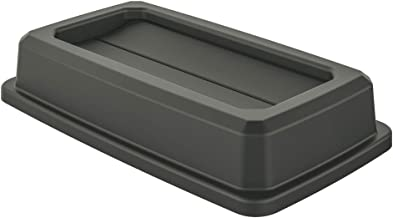 AmazonBasics Double Flip Lid for 23 Gallon Commercial Slim Trash Can, Grey, 3-Pack - TCNLID013A