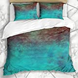 ZAEVO 877 Juego de ropa de cama, diseño de patchwork, color blanco, azul, marroquí, vintage, Arabesque, pared española, microfibra, ropa de cama con 2 Pillow Shams, microfibra, A08, 240 x 260cm