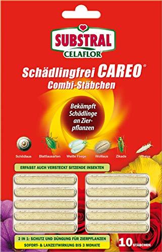 Celaflor Schädlingsfrei Careo Combi-Stäbchen, mit Pflanzenschutz und Düngerfunktion, 10 St
