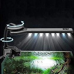 Hillhead-45W-Blau-Wei-312-15-LED-Aquarium-Licht-Clip-on-360-Flexible-Aquarium-Lampe-AC220-240V