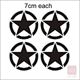 isee360 Small Size Stylish Military Stars Waterproof Stickers for Anywhere Apply (Smooth Surface)...