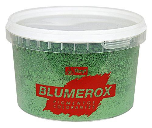 Rayt 1184-81 Polvo Cemento Blanco o Gris, Cal y Yeso. Altísimo Poder colorante. Pigmentos de Primera Calidad. Color Verde 06, 750gr
