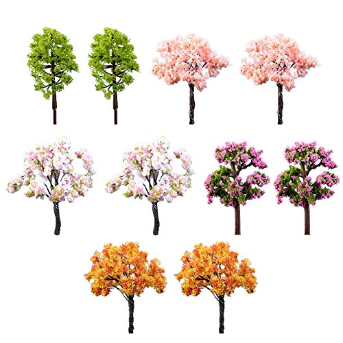 Toruiwa Lot de 10 décorations en plastique pour décoration de micro paysage jardin Arbre artificiel décoratif Pour jardin mousse bonsaï décoration intérieure