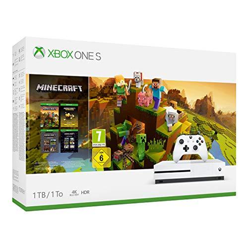 Microsoft Xbox One S - Consola de 1 TB, color blanco + Minecraft Creators