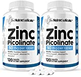 Zinc Picolinate 50mg, 240 Micro Tablets [2 Pack] Immune Support Booster Supplement - Advanced Absorption Zіnс Supplement for Men, Women & Kids