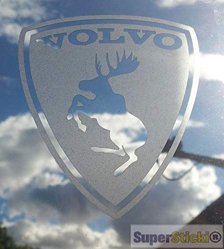 SUPERSTICKI Volvo logo eland 20cm sticker decal van high-performance folie sticker autosticker tuningsticker racingsticker racingsticker van high-performance folie voor alle gladde