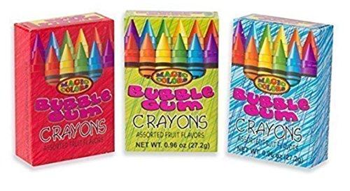 Magic Colors Bubble Gum Crayons 3/ 3 pAcks (total of 9 boxes)