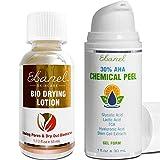 Ebanel Bundle of Acne Drying Lotion, and 30% AHA Chemical Peeling Gel