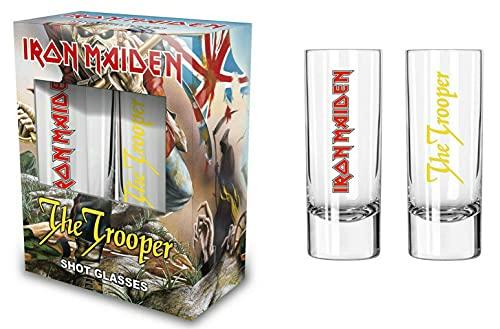 Iron Maiden - Juego de vasos de chupito (2 unidades, 6 cl)