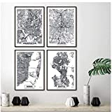A&D Washington City Map Poster und Drucke Atlanta, Miami,