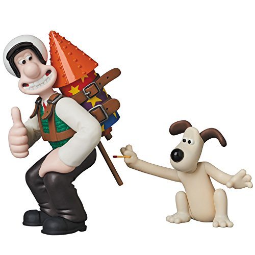Medicom Aardman Animations 2: Wallace & Gromit Ultra Detail Figure, Multicolor