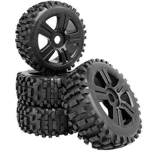 Buggy Reifen Felgenset Attack mit 5-Sternfelge schwarz 1:8 4 Stück partCore
