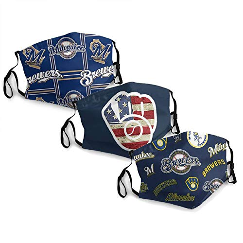 MLB Milwaukee-Brewers Adult Dust Mask,Dust Air Filter Protection
