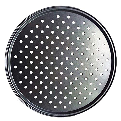 baking trayHousehold Round Pizza Pans With Holes Non-Stick Professional Baking Dishes For Restaurant Grill Barbecue Tray Kitchen Tools