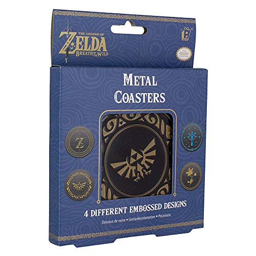 Legend of Zelda sottobicchieri The, Banda stagnata, Multi-Colour, 1 x 9 x 9 cm