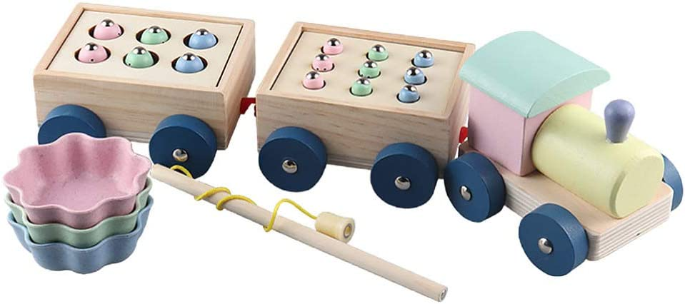 TOYANDONA 1 Set Creative Wood Catch Bugs Magnetic Directly managed store Toy Funny San Jose Mall
