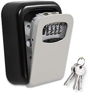 ValueHall KeyLockBox Wall Mounted Combination Key Safe Storage Zinc Alloy Lock Box with Slide Cover Lock Box for House K...