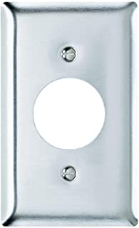 """Legrand-Pass & Seymour Wall Plate Single Receptacle Opening, ONE Gang, 430 Stainless Steel 1.406"""" Hole"""