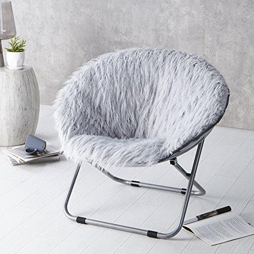 Fur Moon Chair - Glacier Gray