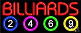13x32x3 inches Billiards NEON Advertising Window Sign