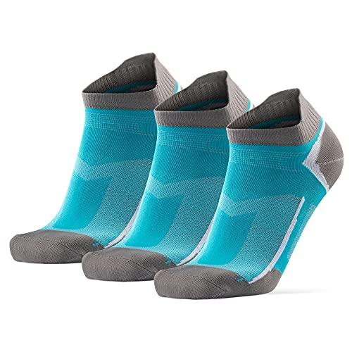 DANISH ENDURANCE Calcetines de Deporte Low Cut Pack de 3 (Azul Caribeño, EU 39-42)