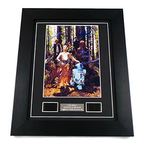 Star Wars Signed + Return of the Jedi Film Cells Framed by artcandi