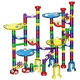 Veatree 122 PCS Marble Run, Bloques de construcción, Juguete Intelectual, Stem Juguetes educativos, Juegos de construcción, Canicas intrépidas