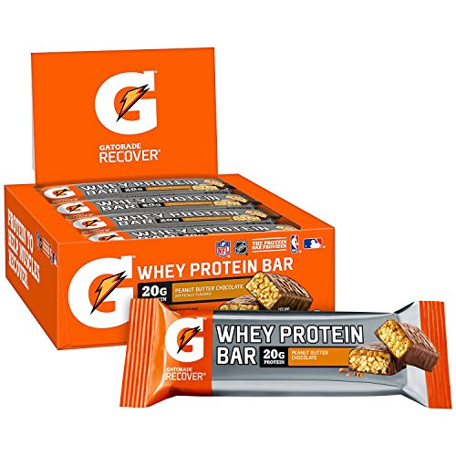 Gatorade Whey Protein Recover Bars Peanut Butter Chocolate 28 ounce bars 12 Count