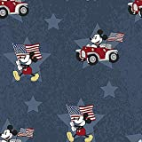 Disney Patriotic Fabric, by The Yard, Patriotic Mickey, 69573-1600710, Fourth of July, Mickey Mouse Fabric, BTY