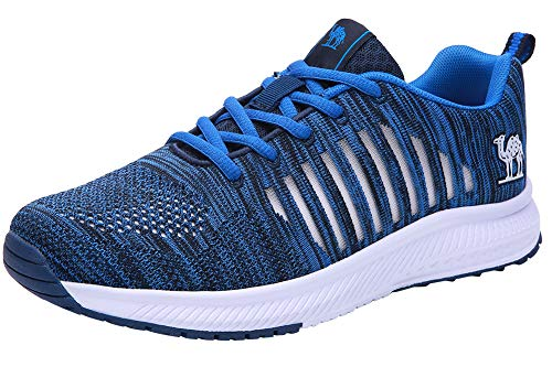 CAMEL CROWN Mens Trail Running Shoes Mesh Comfortable Casual Workout Sneakers Athletic Walking Shoes 12.5 Royal Blue