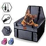 dainz® Stylischer Hunde-Auto-Sitz für kleine Hunde & Welpen bis ca. 7kg   Hunde-Auto-Korb für Beifahrersitz & Rückbank   Hunde-Tasche extra stabil   Hunde-Auto-Box zum wohlfühlen weil wir Tiere lieben