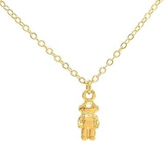 Collar de Astronauta - chapa de oro 22k - Elegantia Jewelry