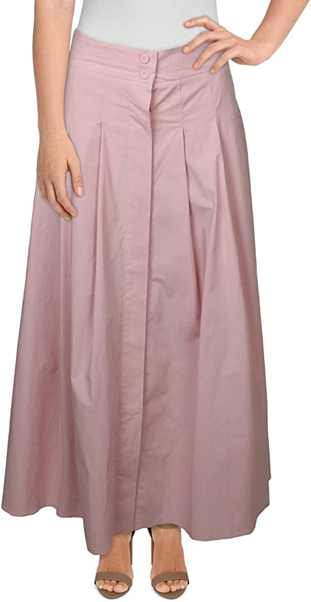 Marella Womens Cotton Pleated Midi Skirt