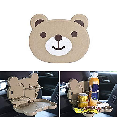 Sunfauo Kinder Reisetisch Auto Reisetisch Auto Kinder Reise-Tabletts für Kinder Flugzeug Auto-Rücksitz-Organizer mit Tablett Lenkrad Tischablage Gray