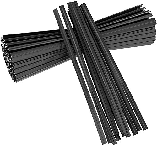 Unves 200 Pcs 5' Balck Twist Ties Plastic Cable Bread Ties for Party Cello Candy Bags Cake Pops Garden Plant