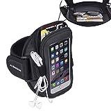 Avantree Ninja iPhone 6/6s/7/ 8 - Brazalete Deportivo para Jogging y Gimnasio, con bolsillo para llaves, auriculares y tarjetas, ideal para el iPhone 5 5s 5c 4s, Samsung Galaxy S3 S4, LG G2 y HTC One