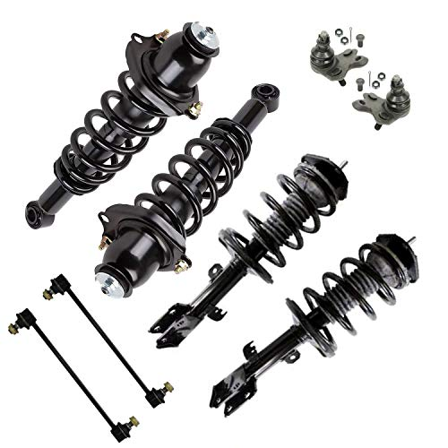 Detroit Axle Front Rear Quick Install Struts w/Coil Spring Assembly Sway Bar Link Replacement for 09-13 Toyota Corolla 1.8L - 8pc Set