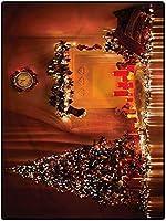 カーペット 床暖房/ホット対応 四角 敷物 140*200 クリスマスの家の装飾の敷物のカーペット、赤ちゃんのロマンチックな新年のためのかわいい部屋の装飾 夏用 防ダニ・抗菌・防臭 ホテル