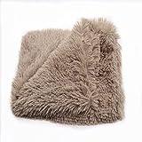 Wandskllss Cama de felpa para mascotas, gato, manta para dormir, manta para cachorro, manta suave para perrera, colchoneta de doble capa (C/L)