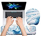 Keyboard Wrist Rest Mouse Pad Wrist Support for Computer Desktop/Laptop/Notebook Memory Foam Keyboard Pad Ergonomic Hand Rest Wrist Cushion for Home Office Gaming - Drak Blue Liquid Marble