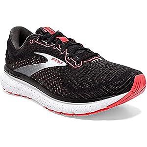 Brooks Womens Glycerin 18 Running Shoe - Black/Coral/White - B - 9.5