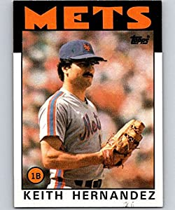 1986 Topps Baseball #520 Keith Hernandez New York Mets Official MLB Trading Card (stock photo used, NM or better guaranteed)