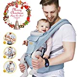 FRUITEAM Baby Carrier, 6-in-1 Baby Carrier With Waist Stool, One Size Fits All