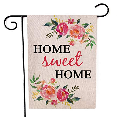 Ogiselestyle Home Sweet Home Garden Flag Vertical Double Sided Spring Summer Yard Outdoor Decorative 12 x 18 Inch