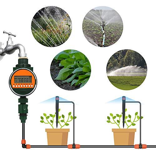 Galapara Bewässerungsuhr, Elektronische Wasser Timer, LCD Display, mit Regensensor 3/4