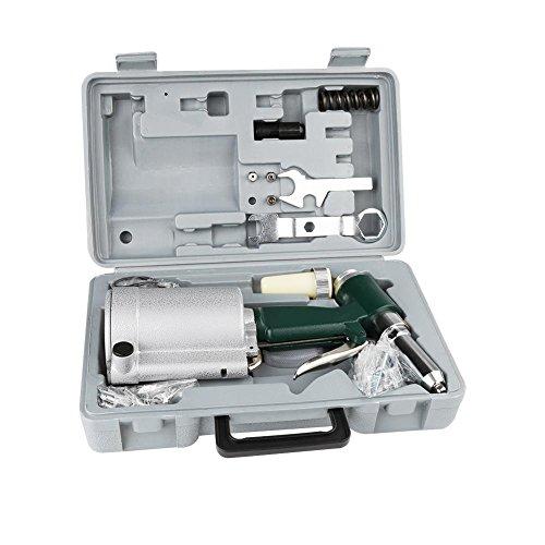 Remachadora de aire comprimido neumático, kit de accesorios remaches industriales remachadora pistola hidráulica aire remachadora estabilizada 2,4 – 4,8 mm