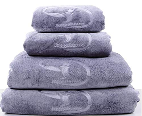Microfibre Towel - Luxury Towels for Swimming, Bath, Beach, Sports, Gym, Travel, Home - Suitable for Adults and Kids - 4 sizes: Hair, Childs, Bath and Oversized Towels (Grey, Childs Size Towel)