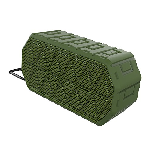 Wireless Bluetooth Speaker with Waterproof IP66, Dustproof, Shockproof and Rechargeable Lithium-ion Polymer Battery for Travel Camping,Beach, Shower & Home Speaker Green Color